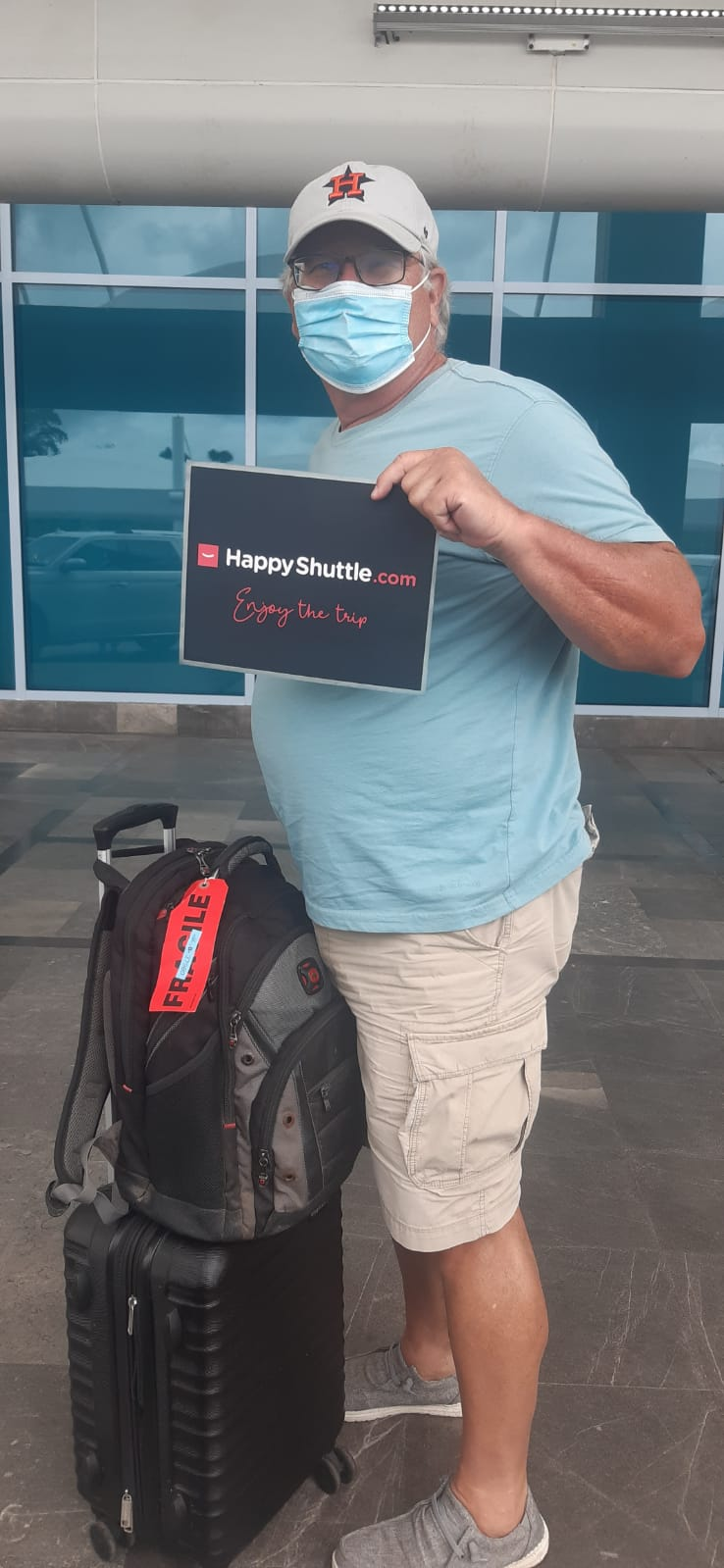 Happy shuttle Customer